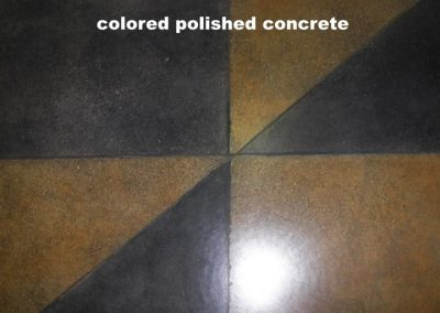 Colored Polished Concrete