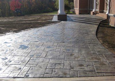 Scored Concrete Surfaces