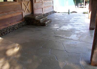 Scored Concrete Surfaces